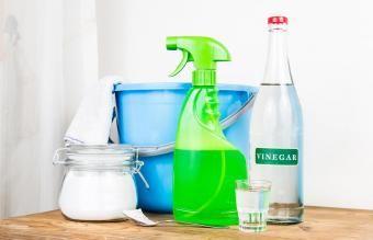 Limpador de vinagre caseiro fácil para uso doméstico