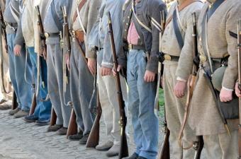 Konfederacijos karių uniformų nuotraukos
