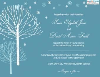 Invitations de mariage d'hiver